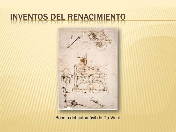 inventos y descubrimientos del renacimiento