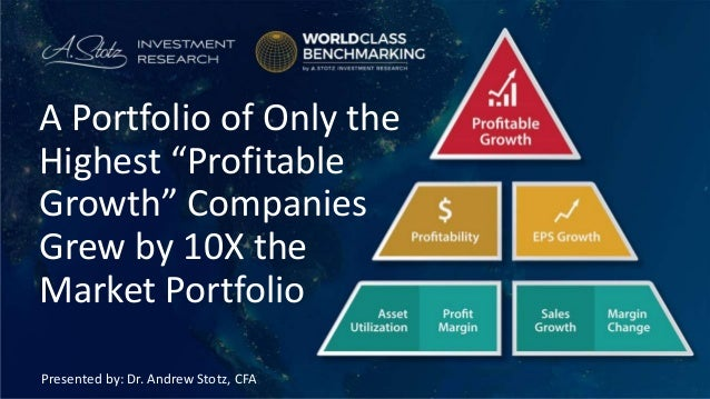 """Presented by: Dr. Andrew Stotz, CFA A Portfolio of Only the Highest """"Profitable Growth"""" Companies Grew by 10X the Market P..."""