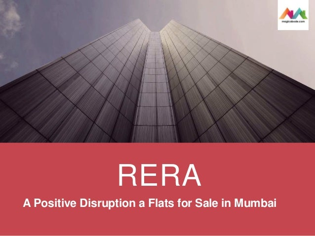 RERA A Positive Disruption a Flats for Sale in Mumbai
