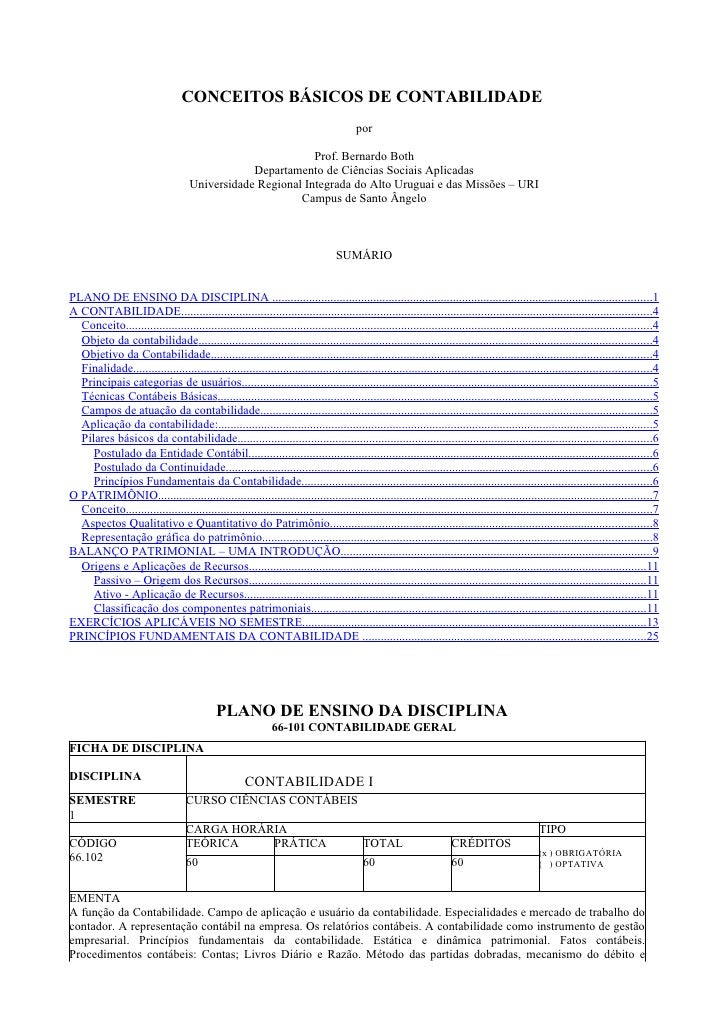 CONCEITOS BÁSICOS DE CONTABILIDADE                                                                                        ...