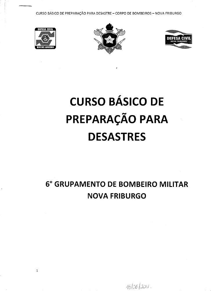 CURSO BÁSICO DE PREPARAÇÃO PARA DESASTRES (completo)
