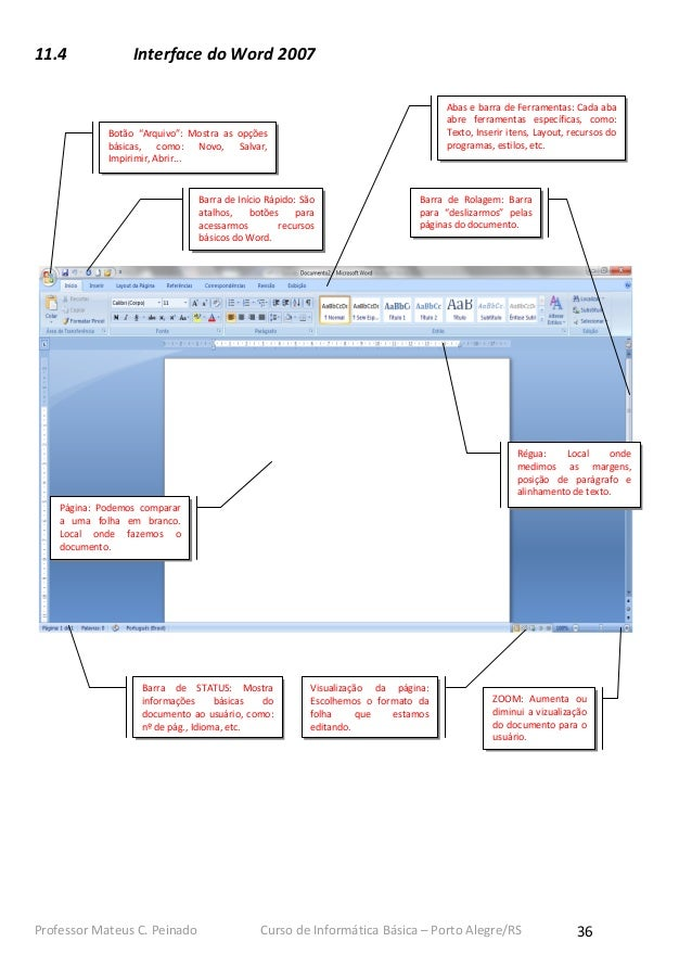 11.4              Interface do Word 2007                                                                                  ...