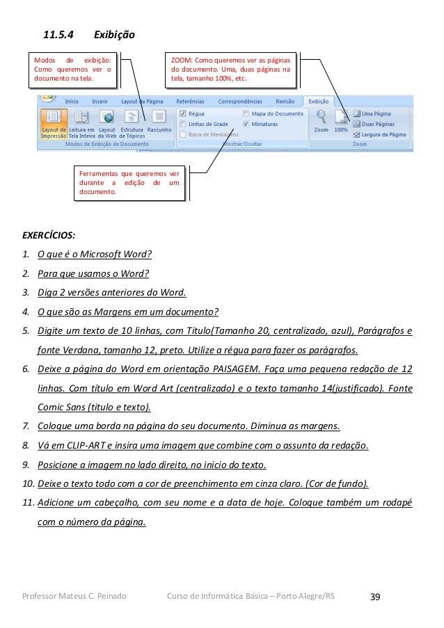 11.5.4       Exibição   Modos de exibição:                  ZOOM: Como queremos ver as páginas   Como queremos ver o      ...