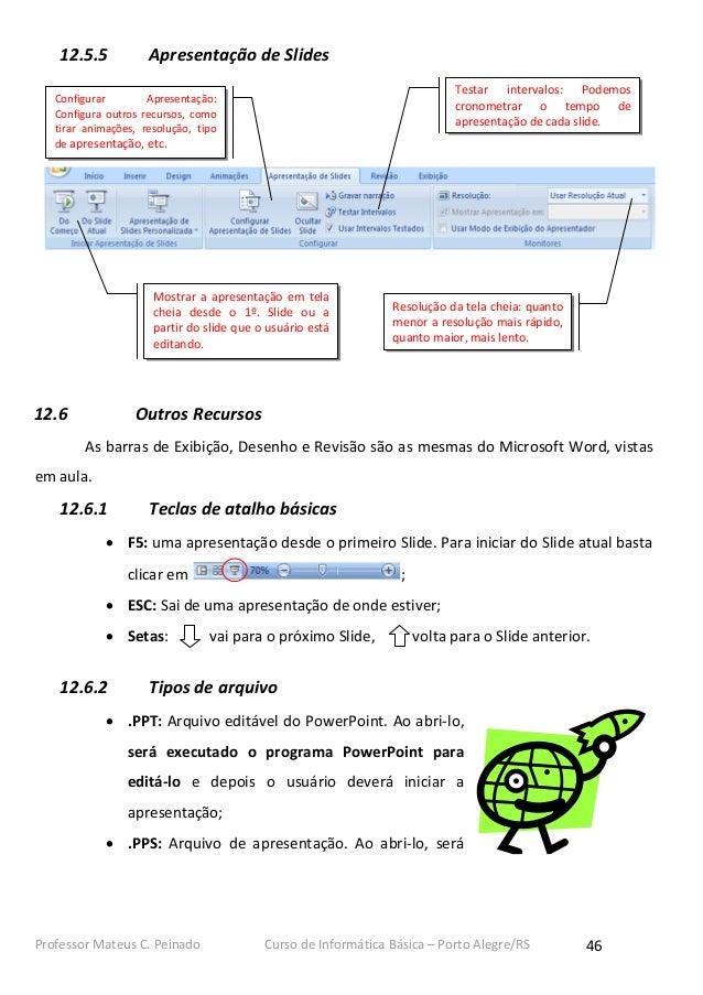 12.5.5           Apresentação de Slides                                                                            Testar ...