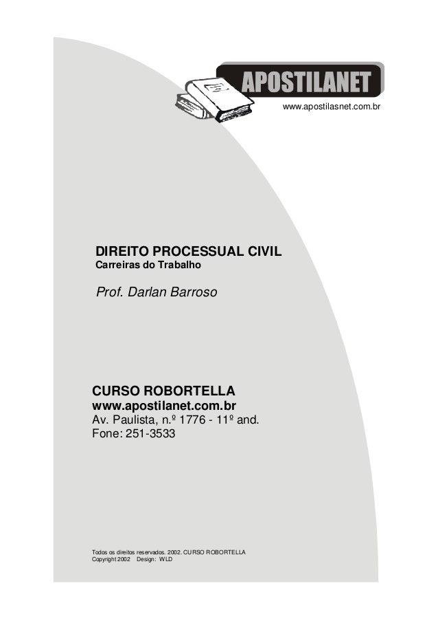 by Curso Robortella www.apostilasnet.com.br CURSO ROBORTELLA www.apostilanet.com.br Av. Paulista, n.º 1776 - 11º and. Fone...