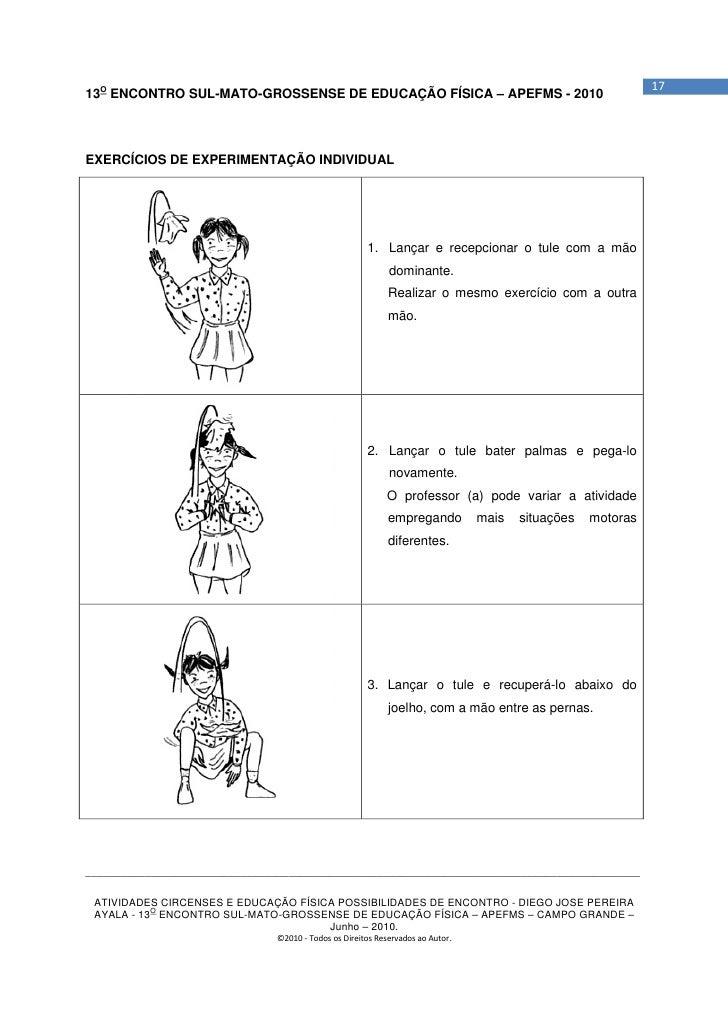 1713O ENCONTRO SUL-MATO-GROSSENSE DE EDUCAÇÃO FÍSICA – APEFMS - 2010EXERCÍCIOS DE EXPERIMENTAÇÃO INDIVIDUAL               ...