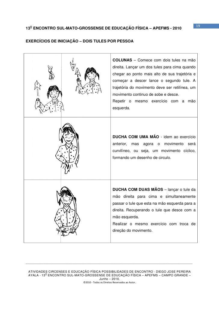 1913O ENCONTRO SUL-MATO-GROSSENSE DE EDUCAÇÃO FÍSICA – APEFMS - 2010EXERCÍCIOS DE INICIAÇÃO – DOIS TULES POR PESSOA       ...