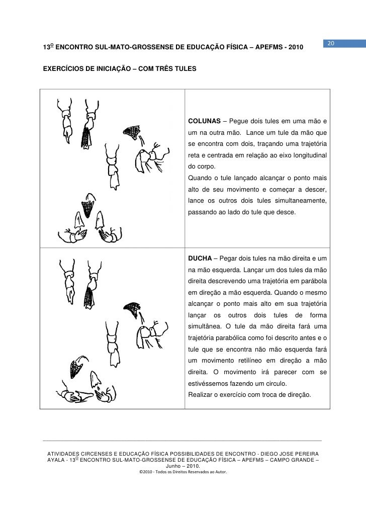 2013O ENCONTRO SUL-MATO-GROSSENSE DE EDUCAÇÃO FÍSICA – APEFMS - 2010EXERCÍCIOS DE INICIAÇÃO – COM TRÊS TULES              ...