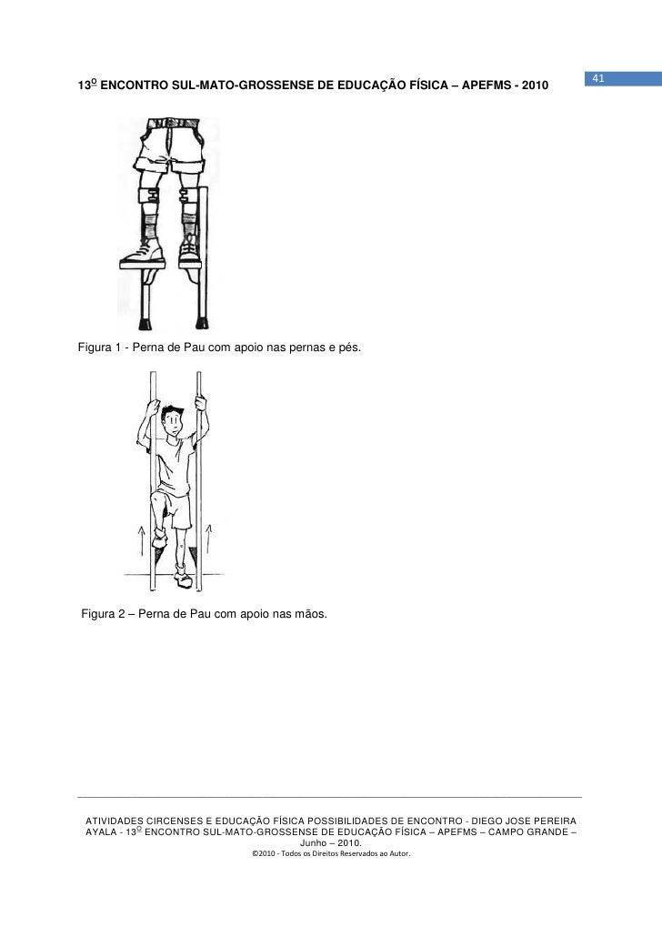 4113O ENCONTRO SUL-MATO-GROSSENSE DE EDUCAÇÃO FÍSICA – APEFMS - 2010Figura 1 - Perna de Pau com apoio nas pernas e pés.Fig...