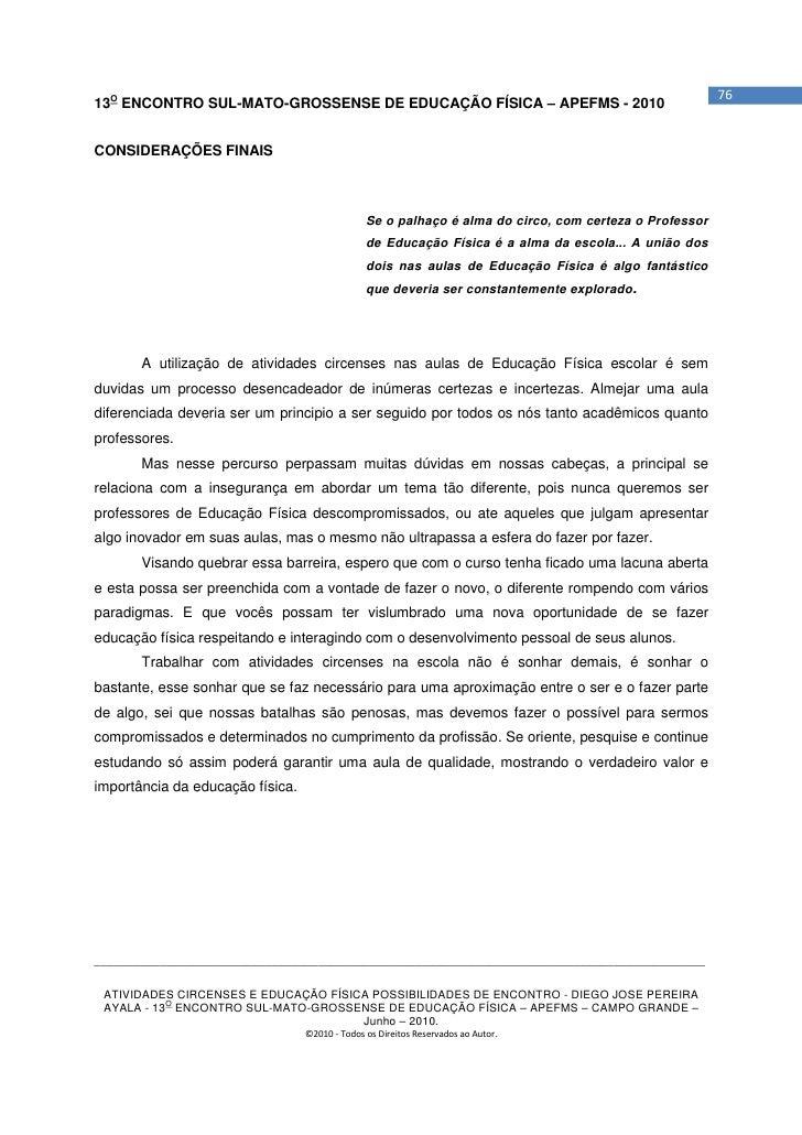 Apostila   curso atividades circenses - campo grande MS - Diego Ayala