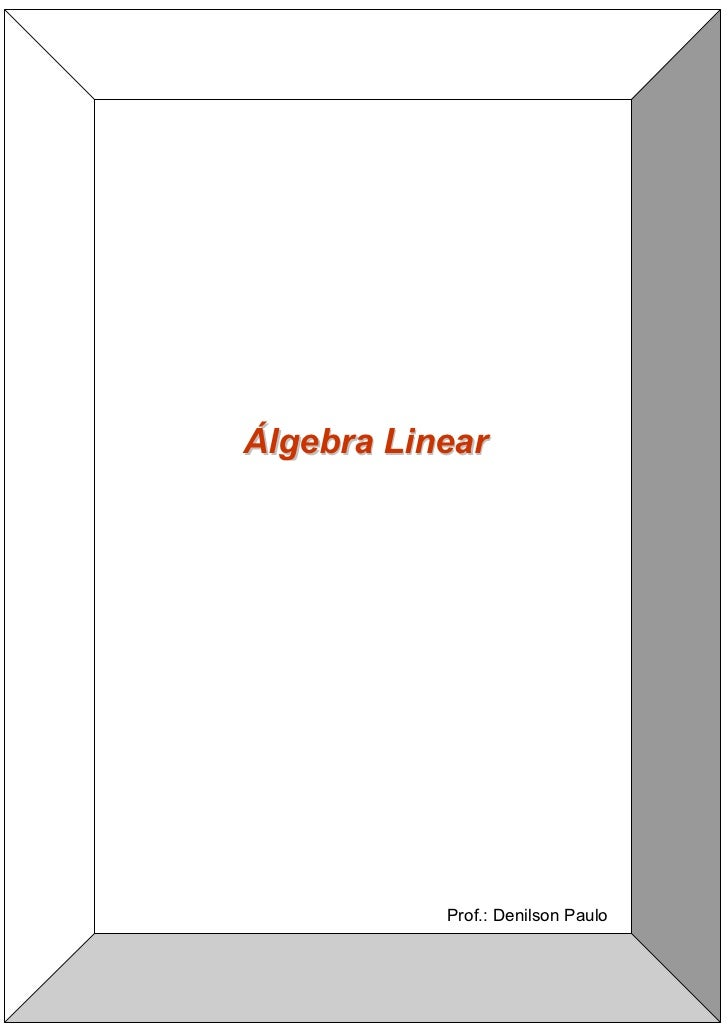 Álgebra Linear                Prof.: Denilson Paulo