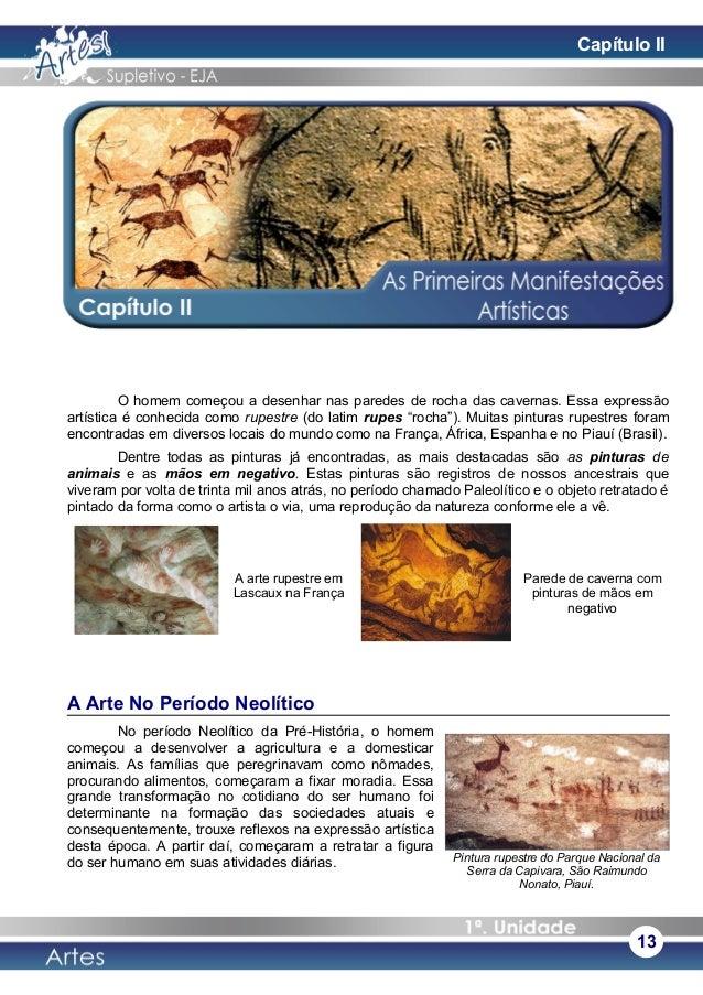 O homem começou a desenhar nas paredes de rocha das cavernas. Essa expressão artística é conhecida como rupestre (do latim...