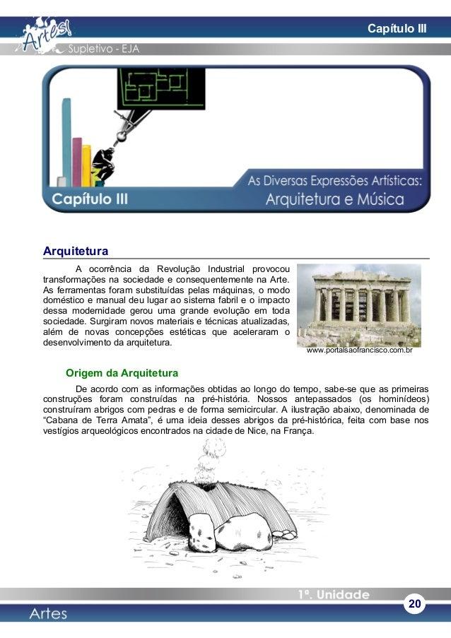Arquitetura A ocorrência da Revolução Industrial provocou transformações na sociedade e consequentemente na Arte. As ferra...