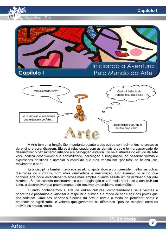 A Arte tem uma função tão importante quanto a dos outros conhecimentos no processo de ensino e aprendizagem. Ela está rela...