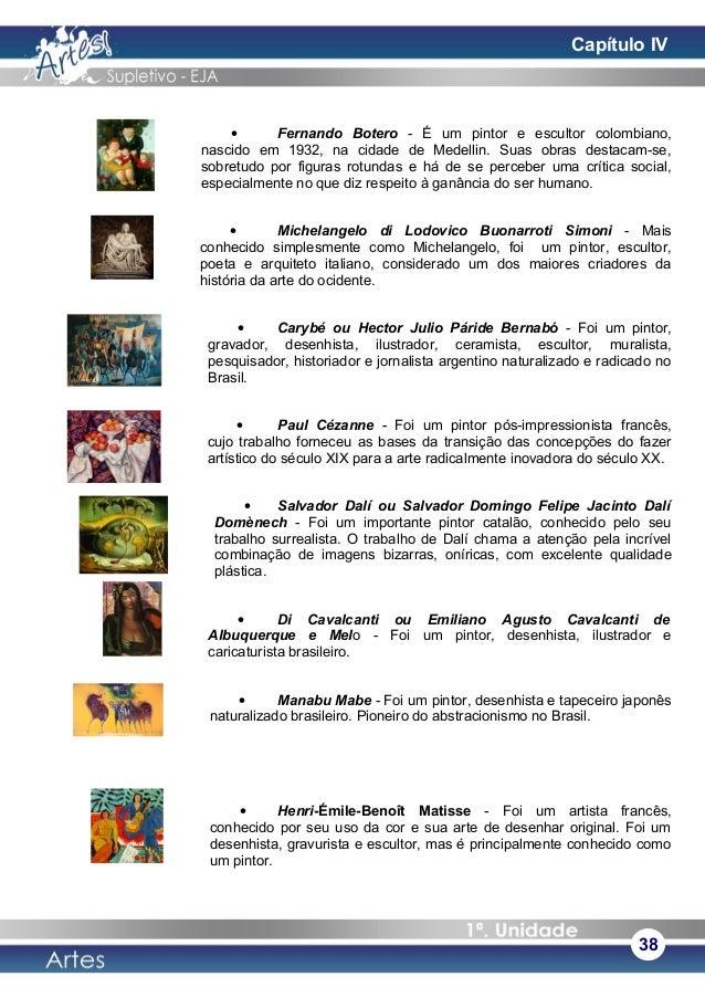• Fernando Botero - É um pintor e escultor colombiano, nascido em 1932, na cidade de Medellin. Suas obras destacam-se, sob...