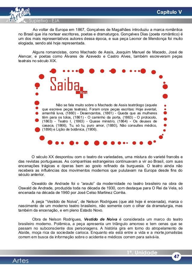 Ao voltar da Europa em 1867, Gonçalves de Magalhães introduziu a marca romântica no Brasil que iria nortear escritores, po...
