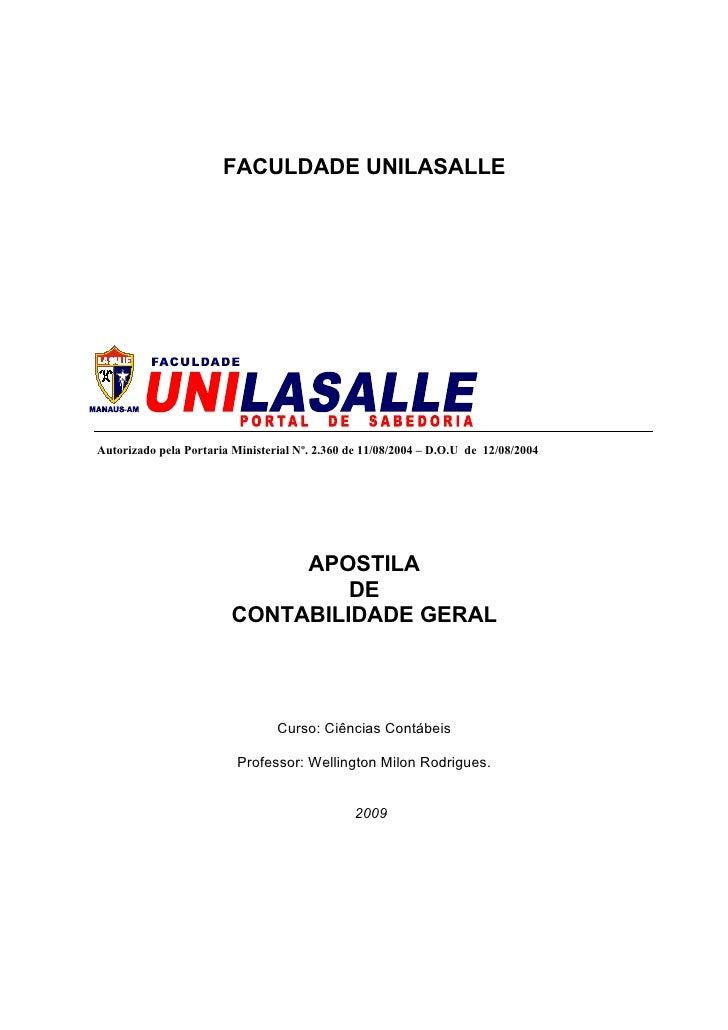 FACULDADE UNILASALLE     Autorizado pela Portaria Ministerial Nº. 2.360 de 11/08/2004 – D.O.U de 12/08/2004               ...