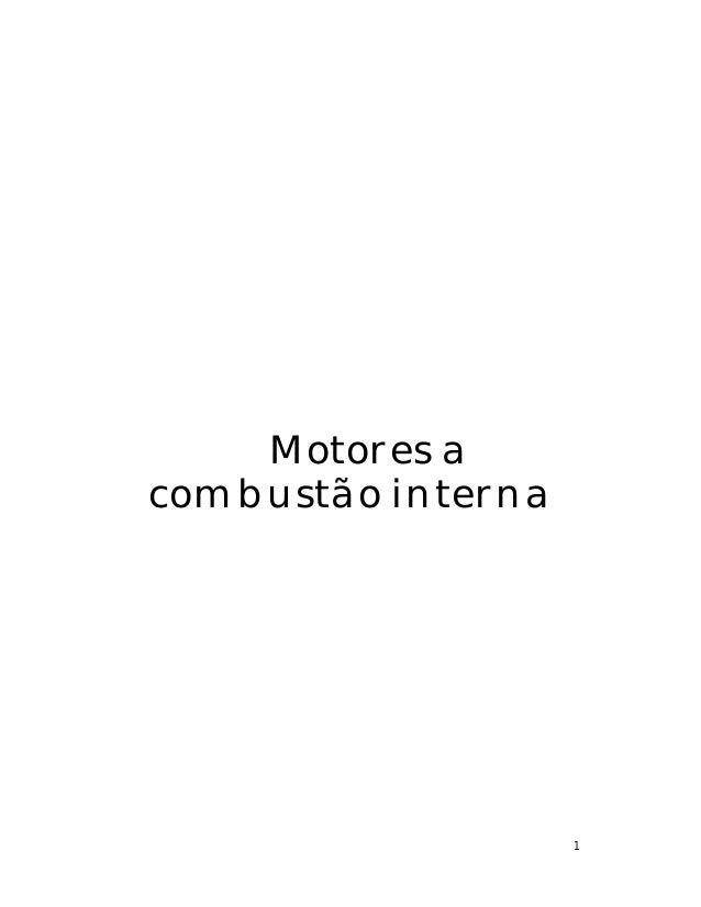 1 Motores a combustão interna