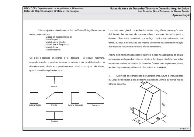 Anotações UFV - CCE - Departamento de Arquitetura e Urbanismo Setor de Representação Gráfica e Tecnologia Apresentação UFV...