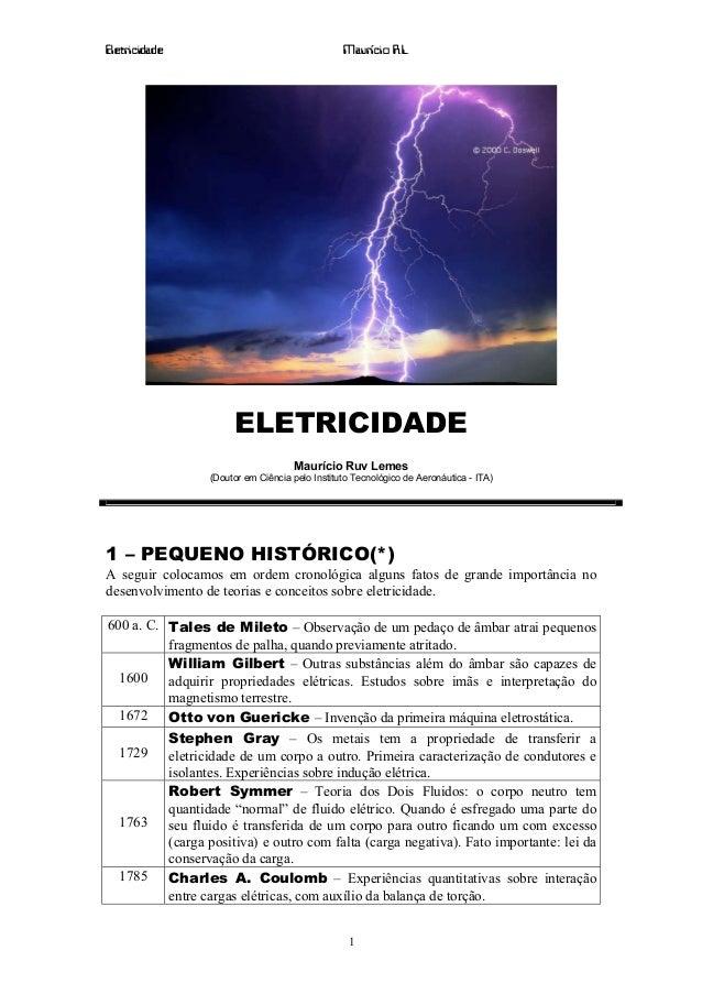Eletricidade                                    Maurício R.L.                      ELETRICIDADE                           ...