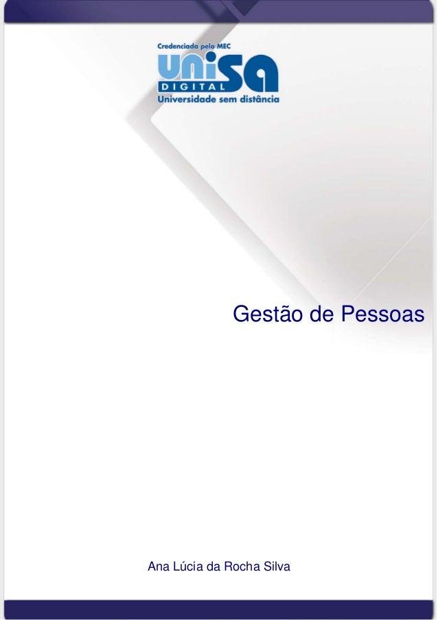 Gestão de Pessoas Ana Lúcia da Rocha Silva