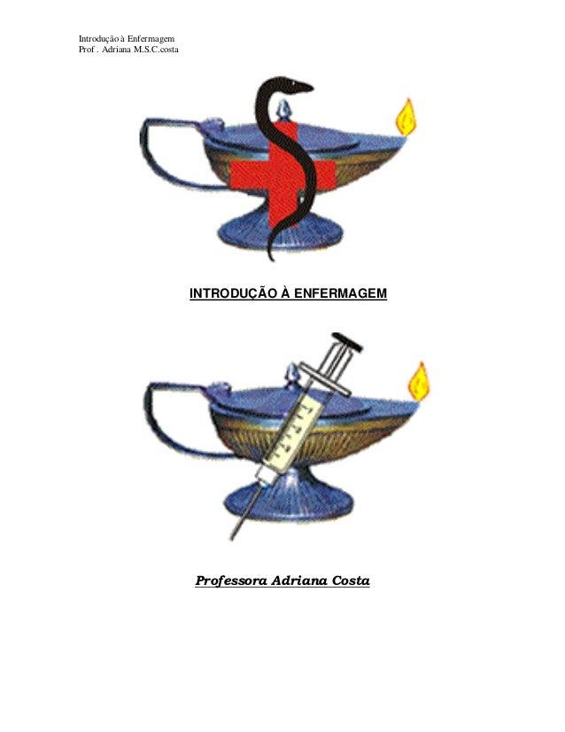 Introdução à Enfermagem Prof . Adriana M.S.C.costa  INTRODUÇÃO À ENFERMAGEM  Professora Adriana Costa