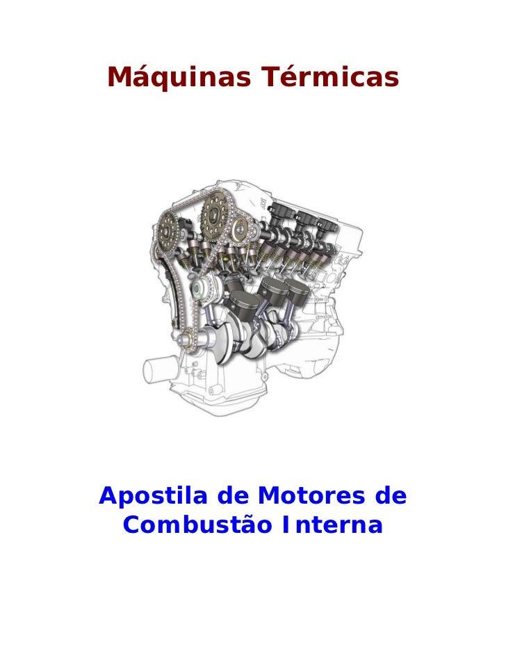 Máquinas TérmicasApostila de Motores de Combustão Interna