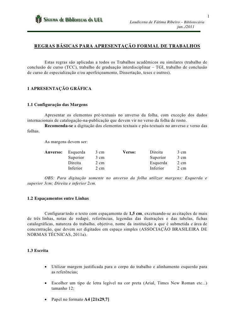 1                                                      Laudicena de Fátima Ribeiro – Bibliotecária                        ...
