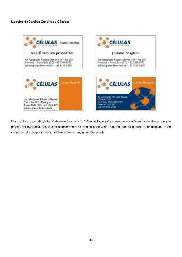 Apostila Treinamento de Líderes de Células - Pequenos Grupos