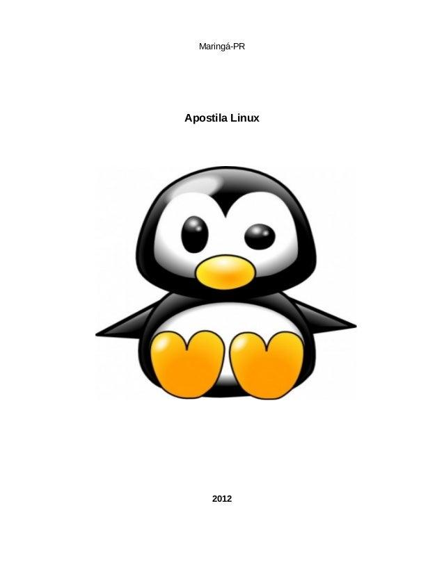 Maringá-PR Apostila Linux 2012