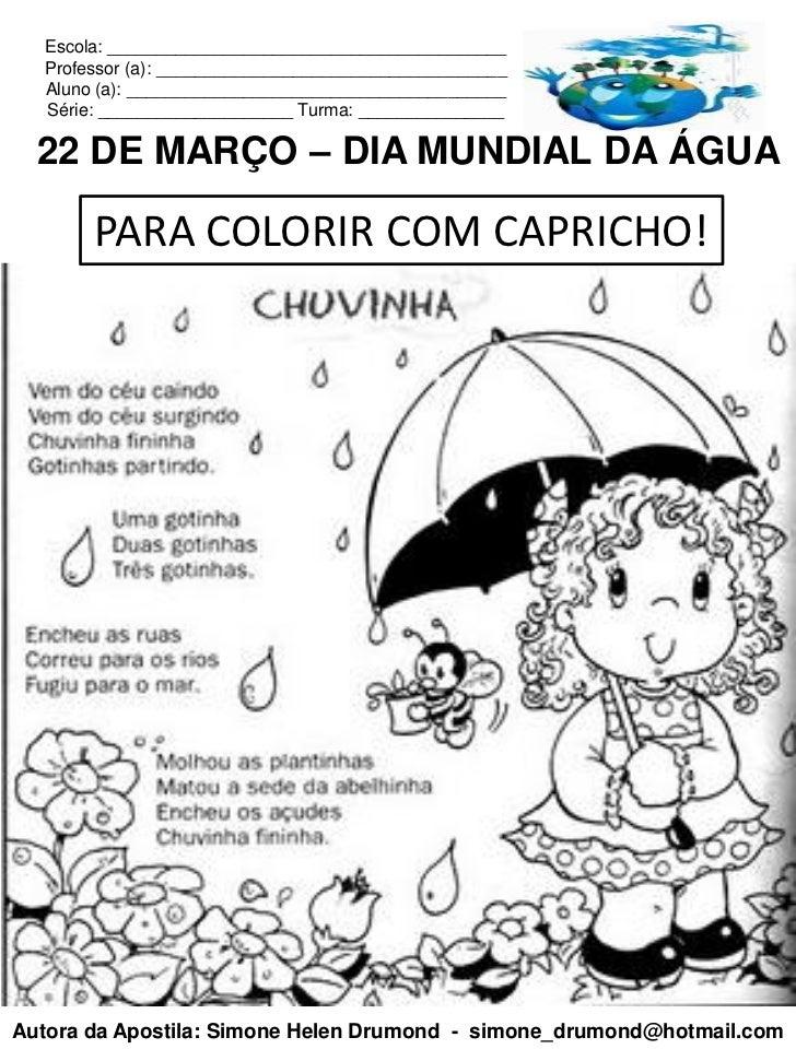 Apostila 1 Dia Mundial Da Agua