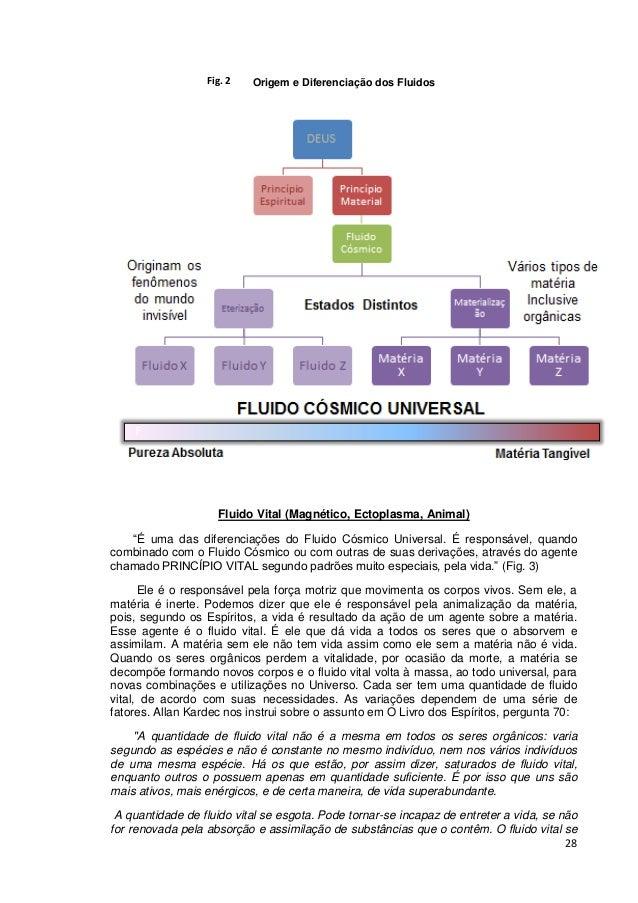 """28 Origem e Diferenciação dos Fluidos Fluido Vital (Magnético, Ectoplasma, Animal) """"É uma das diferenciações do Fluido Cós..."""