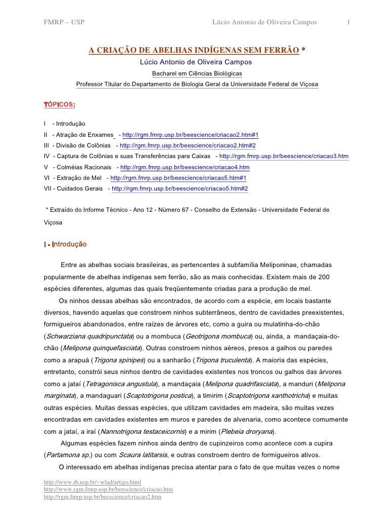 FMRP – USP                                                    Lúcio Antonio de Oliveira Campos            1               ...
