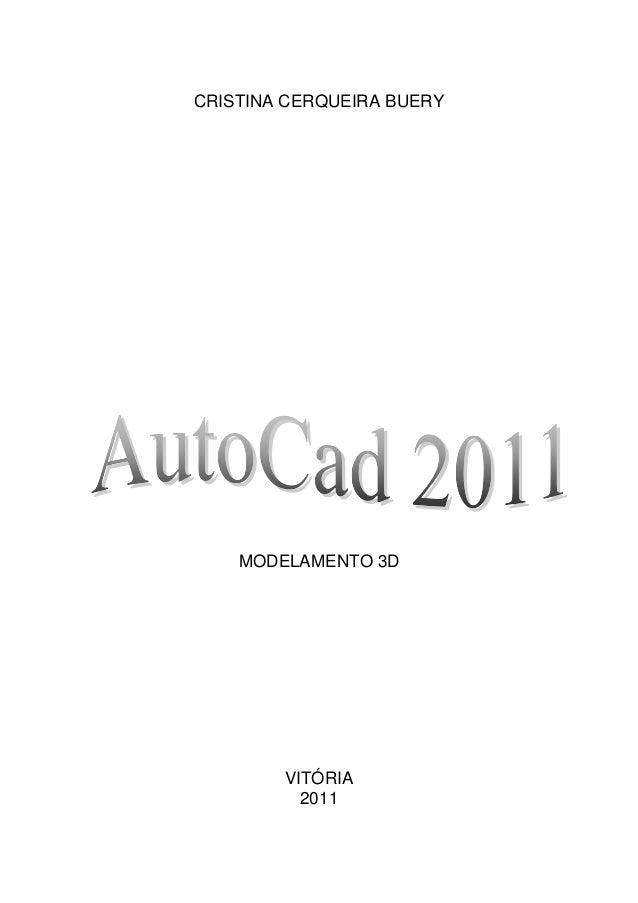 CRISTINA CERQUEIRA BUERY  MODELAMENTO 3D  VITÓRIA 2011