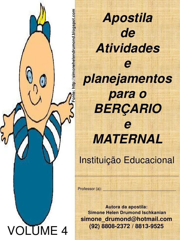 Fonte: http://simonehelendrumond.blogspot.com                                                                Apostila     ...