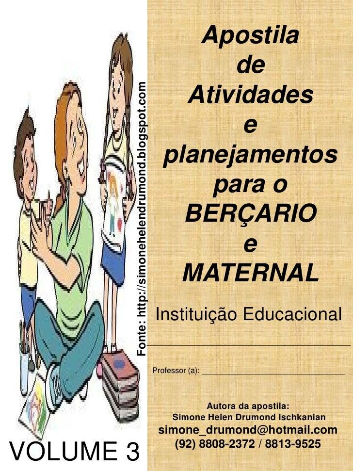 Apostila Bercario E Maternal Volume 3 Simone Helen Drumond