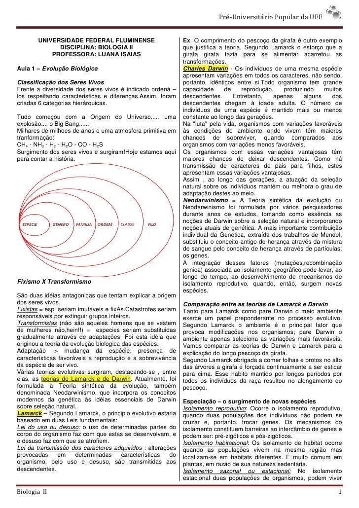 Pré-Universitário Popular da UFF          UNIVERSIDADE FEDERAL FLUMINENSE                         Ex. O comprimento do pes...