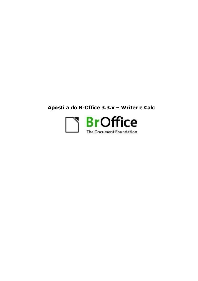 Apostila do BrOffice 3.3.x – Writer e Calc