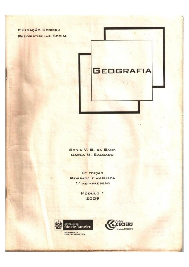 Apostila CEDERJ Geografia Modulo 1