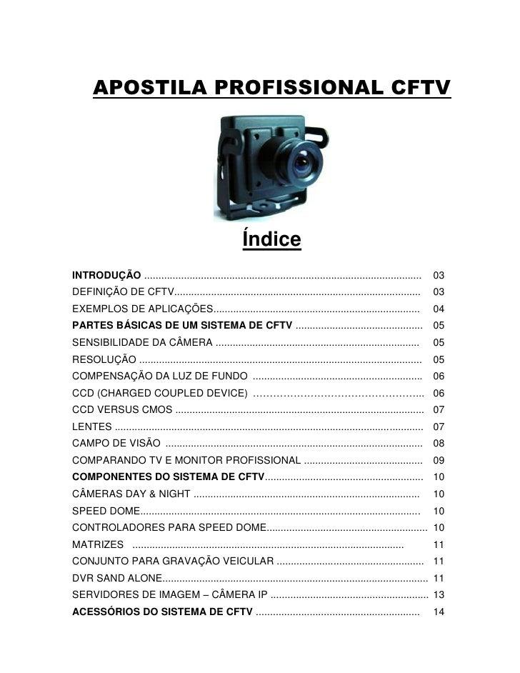 APOSTILA PROFISSIONAL CFTV                                                      ÍndiceINTRODUÇÃO ............................