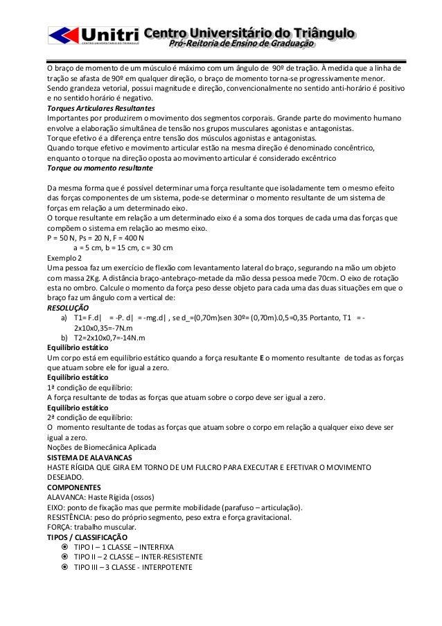 Apostila cinesiologia e biomecânica