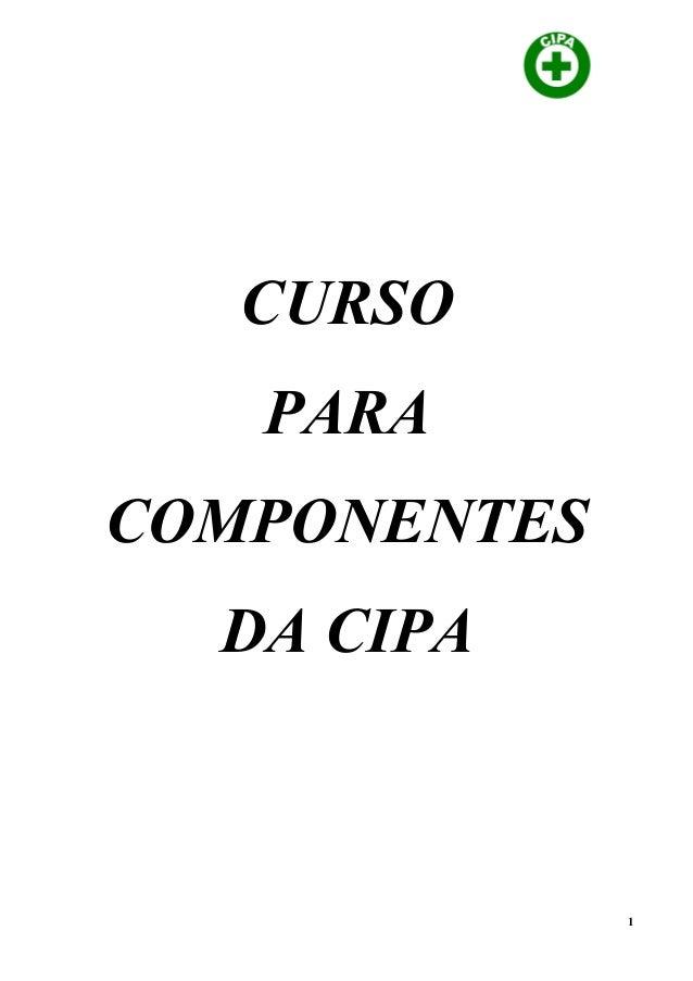 CURSO PARA COMPONENTES DA CIPA 1
