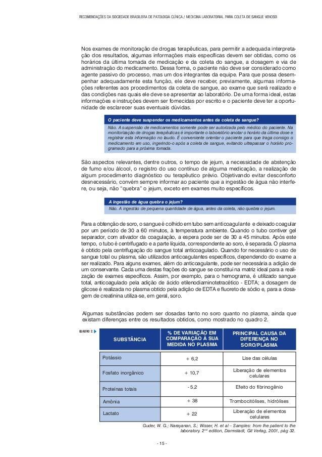 RECOMENDAÇÕES DA SOCIEDADE BRASILEIRA DE PATOLRECOMENDAÇÕES DA SOCIEDADE BRASILEIRA DE PATOLRECOMENDAÇÕES DA SOCIEDADE BRA...