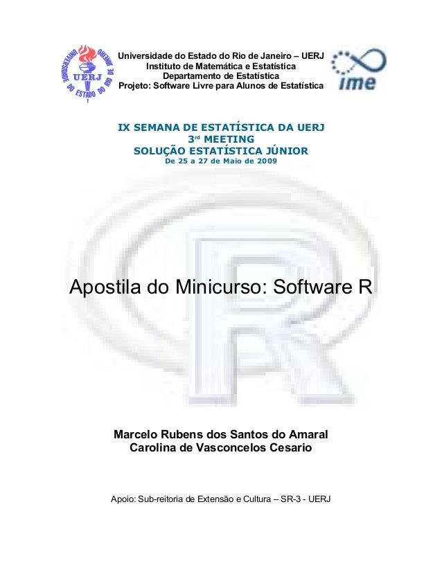 Universidade do Estado do Rio de Janeiro – UERJ            Instituto de Matemática e Estatística                Departamen...