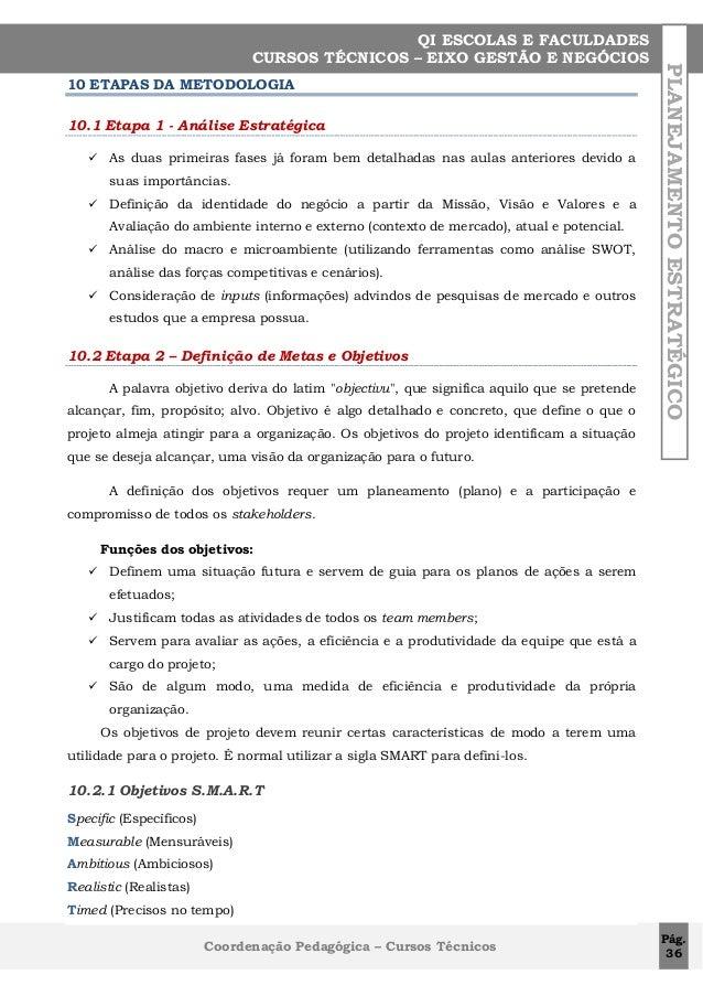 10 ETAPAS DA METODOLOGIA 10.1 Etapa 1 - Análise Estratégica   As duas primeiras fases já foram bem detalhadas nas aulas a...