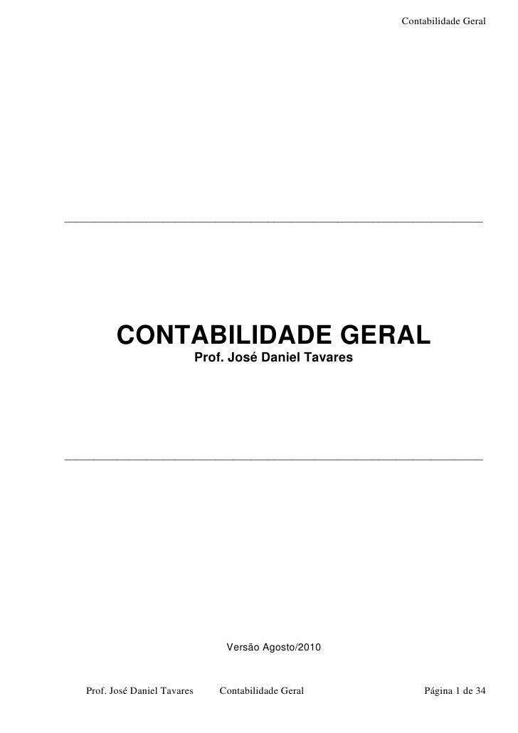 Contabilidade Geral     ________________________________________________________________________               CONTABILIDA...