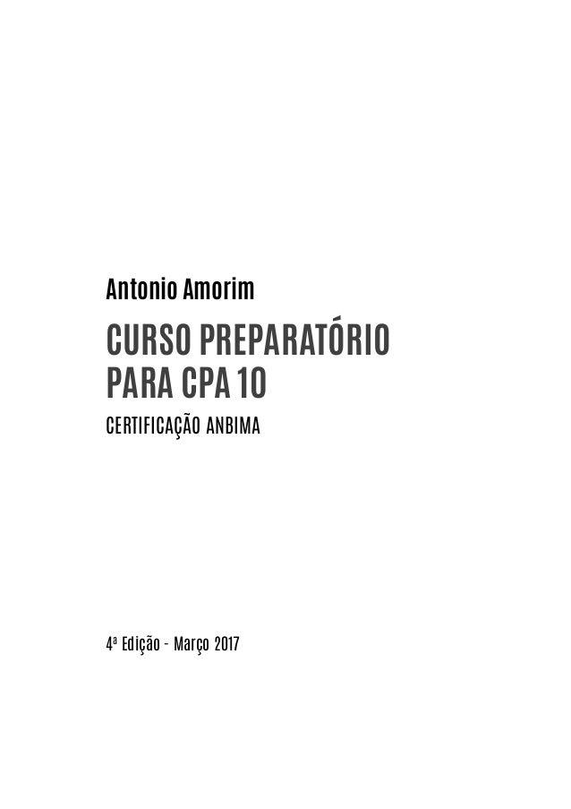LIVRO CPA10 ANBIMA Atualização MARÇO/2017 - CPA 10 COMPLETO -  Slide 2