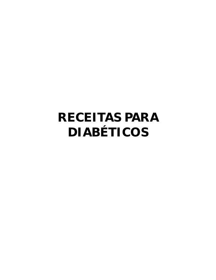 RECEITAS PARA DIABÉTICOS