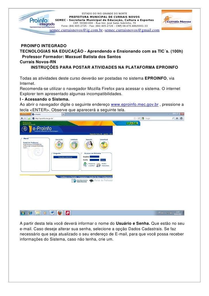 ESTADO DO RIO GRANDE DO NORTE                          PREFEITURA MUNICIPAL DE CURRAIS NOVOS                  SEMEC - Secr...