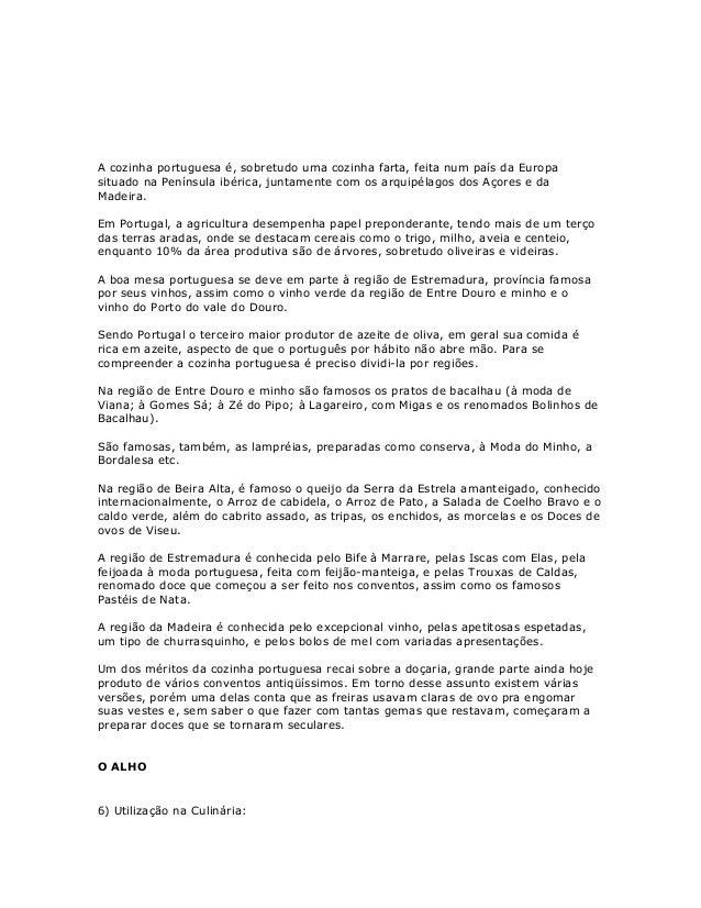 Apostila de cozinha portuguesa-a cozinha portuguesa por regiões Slide 2